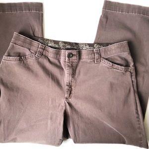 Lee Comfort Waistband Fit Brown Pants Sz 16P